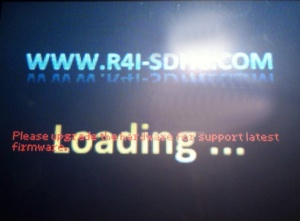 r4 sdhc please upgrade the hardware for support latest firmware